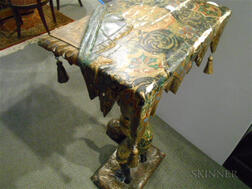 Continental Painted Blackamoor Table