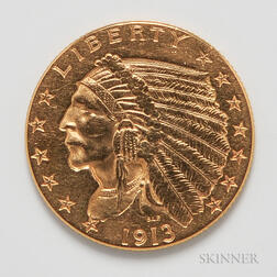 1913 $2.50 Indian Head Gold Coin
