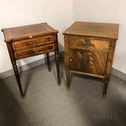 Two Federal-style Mahogany Worktables