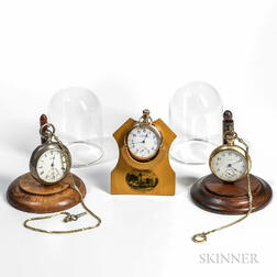 Three Open-face Waltham Pocket Watches