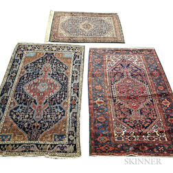 Three Hamadan Rugs