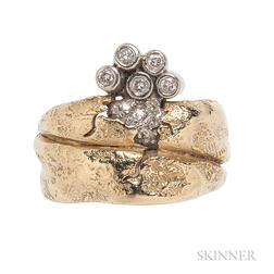 "18kt Gold, Platinum, and Diamond ""Odyssey"" Ring, SeidenGang"
