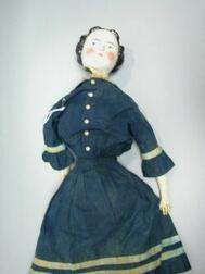China Head Doll with Original Outfit
