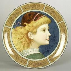 Frederick Rhead Decorated Earthenware Portrait Charger