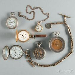 Five Watches and a Pocket Thermometer/Compass