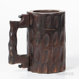 Carved Mug Reportedly Made from the Mast Step of the America