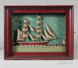 Polychrome Carved Shadow Box Diorama of the Lilian