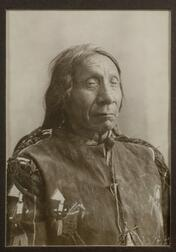 Framed Silver Print Photograph of Red Cloud