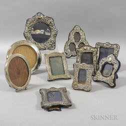 Ten Assorted Sterling Silver Picture Frames