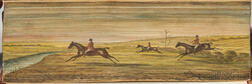 Fore-edge Painting of a Hunting Scene.