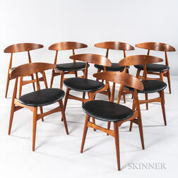 Eight Hans Wegner Dining Chairs