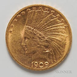 1909 $10 Indian Head Gold Coin