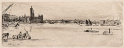 James Abbott McNeill Whistler (American, 1834-1903)      Old Westminster Bridge