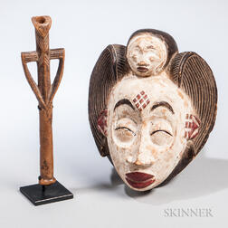 Burkina Faso African Dance Whistle and a Mask