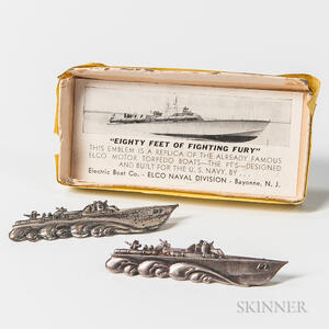 Two Sterling Silver PT Boat Pins