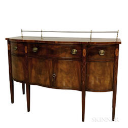 Federal-style Inlaid Mahogany Serpentine-front Sideboard