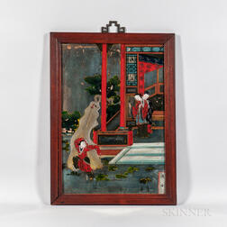 Paint-decorated China Trade Mirror