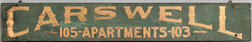 """Carswell Apartments"" Trade Sign"