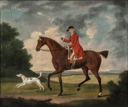 British School, 18th Century      Ready for the Hunt