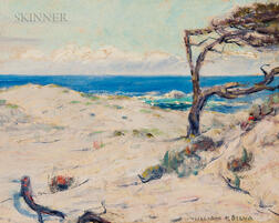 William Posey Silva (American, 1859-1948)      Pines on the Dunes, Monterey Coast