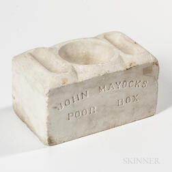 Carved Marble Poor Box