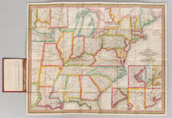 United States. James Hamilton Young (fl. circa 1830) Mitchells Travellers Guide through the United States. A Map of the Roads, Distan
