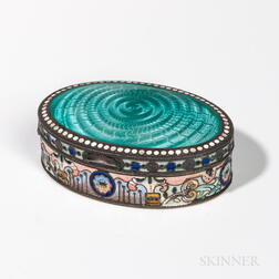 Russian .875 Silver and Cloisonne Enamel Box