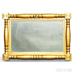 Federal Gilt Split-baluster Overmantel Mirror
