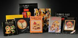 Nine Clarice Cliff Reference Books