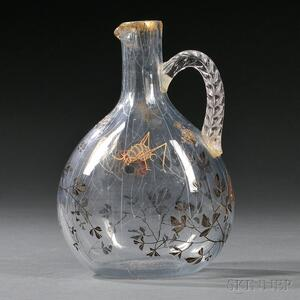 Emile Galle Enameled Pitcher
