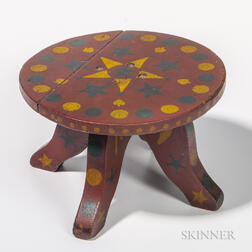Paint-decorated Stool