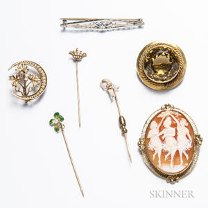 Group of Antique Brooches and Stickpins