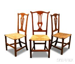 Three Chippendale Side Chairs