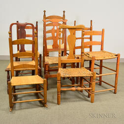 Eight Country Side Chairs