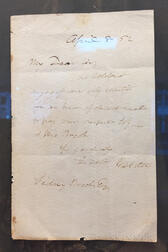 Webster, Daniel (1782-1852) Autograph Note Signed, 8 April 1852.