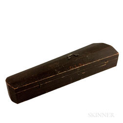"Grain-painted Pine Violin Case for ""G.L. Baker,"""