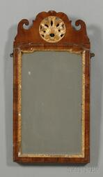 Queen Anne Walnut and Gilt-gesso Mirror