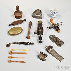 Collection of Nutmeg Graters and Kitchen Items