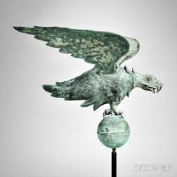 Molded Copper and Cast Zinc Spreadwing Eagle Weathervane