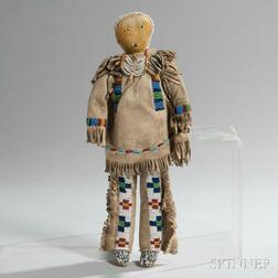 Plains Beaded Hide Male Doll