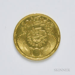 1374 Egyptian Gold Pound, KM387.     Estimate $200-300