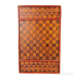 Inlaid Wood Checkerboard