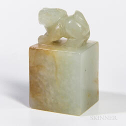 Small Nephrite Jade Seal