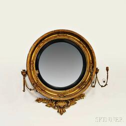 Regency Carved Gilt-gesso Girandole Mirror