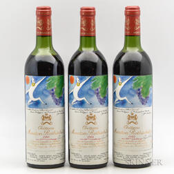 Chateau Mouton Rothschild 1982, 3 bottles