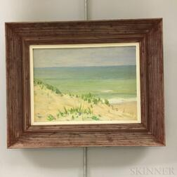 Edwin B. Sears (American, 20th Century)       Two Landscapes of Nantucket Sand Dunes.