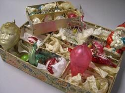 Group of German Blown Glass Christmas Ornaments