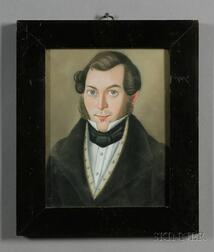 Northern European School, 19th Century      Portrait of a Young Man.