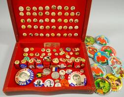 Collection of 20th Century Pinback Buttons