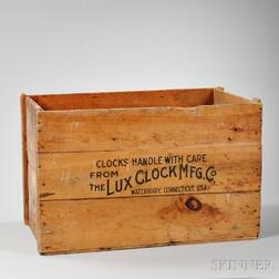 Pine Packing Crate from the Lux Clock Company